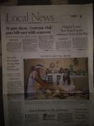 Newspaper photo report