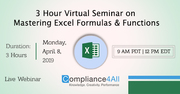 Best Mastering Excel Formulas and Functions 2019