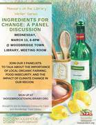 Ingredients for Change: A Panel Discussion