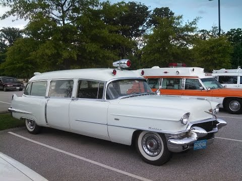 A Walk About the Cadillac hearses ambulances and limos at the 2016 Professional Car Society meet