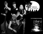 Sheila and the Caddo Kats 8x10 black & white