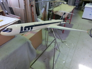 LOT Polish Airlines IL-62M 1:50 scale Die-Cast Model after Restoration