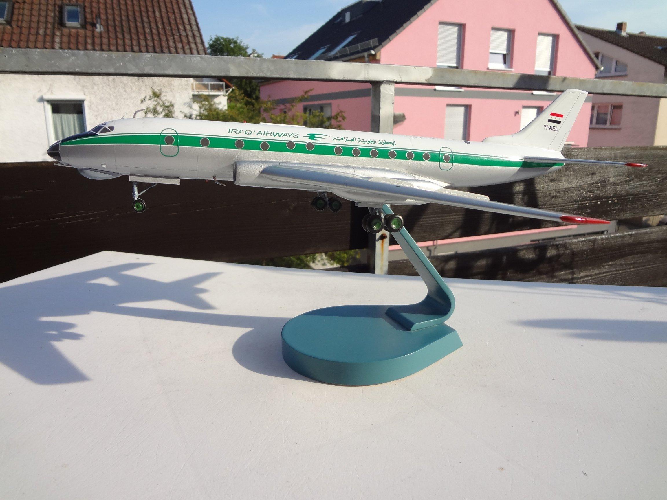 Iraqi Airways TU-124 1:72 Scale Model