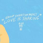 """นิทรรศการ """"Love is sharing. Happy moment together"""""""