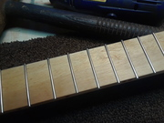 Frets hammered in