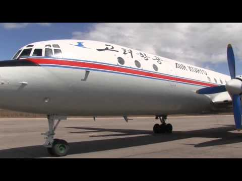 THE SIGHT & THE SOUND 3/12 : Air Koryo IL-18 P-835 inflight documentary from Samjiyong to Pyongyang