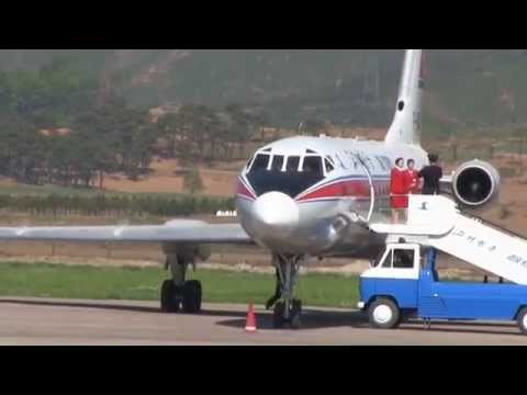 THE SIGHT & THE SOUND 4/12 : Air Koryo TU-134B P-814 inflight documentary from Pyongyang to Sondok