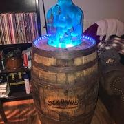 Lava lamp whiskey barrel