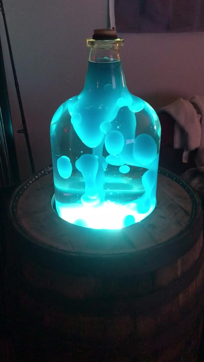 Whiskey Barrel Lava lamp