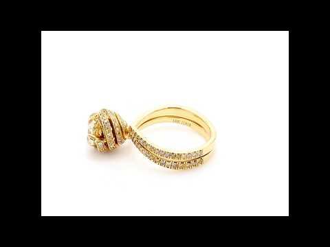 1.28CT Yellow Diamond Ring - Asteria Diamonds