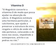 Vitamina D, Magnésio e Cálcio