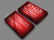 Red Business Card Front and Back BYOB