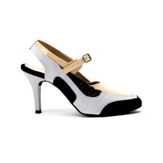 Buy Anakin Beige Mary Jane Stiletto Heels Sandal for Women at PAIO Shoes 3