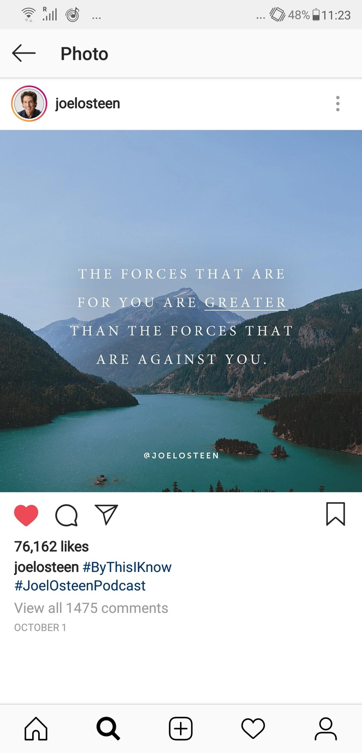 The forces for you are greater than what's against you.