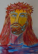 Mail art the face of JESUS