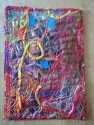 """Fiber Mail Art to Katt Deschene Titled """"Maraschino"""""""