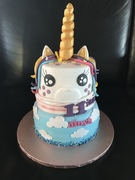 Unicorn 2 laags taart