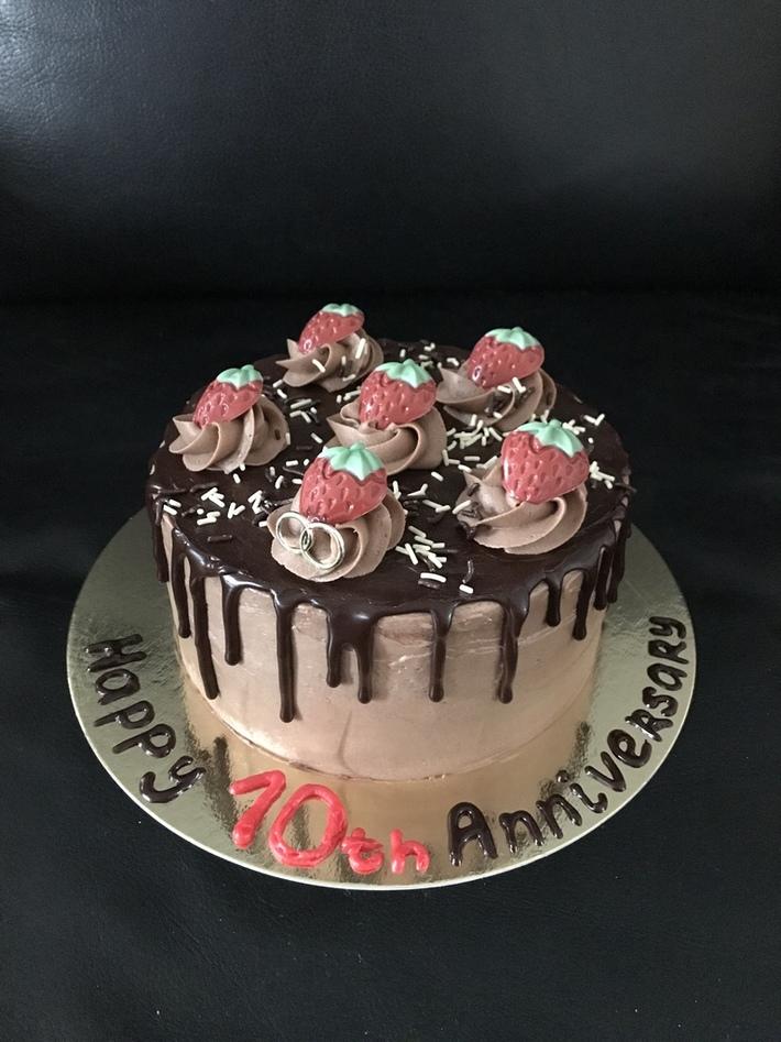 10th Anniversary taart