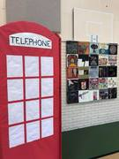 Record Album Art and telephone booth