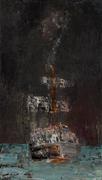 Dueño del silencio  - óleo sobre tela  70 x 40 cm.