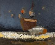 Canto nocturno  - óleo sobre tela 100 x 120 cm.