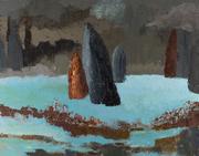 Multitud de soledades  - óleo sobre tela  110 x 140 cm.