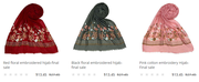 Buy islamic embroidered hijabs on sale from EastEssence