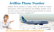 Solve the JetBlue Queries with the JetBlue Phone Number