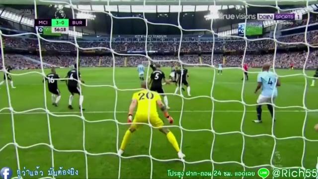 [Full Match+ไฮไลท์พากย์ไทย] พรีเมียร์ลีก เรือจ่าฝูง  แมนฯ ซิตี้ 5-0 เบิร์นลี่ย์