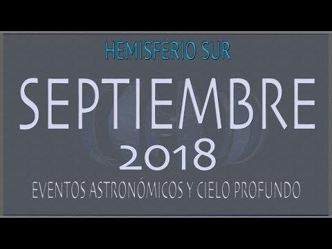 CIELO DE SEPTIEMBRE 2018. HEMISFERIO SUR