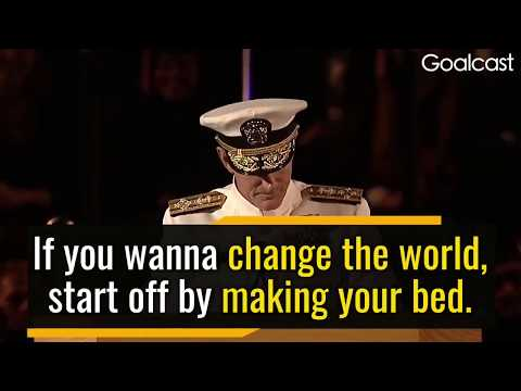 Inspiring: Change the World by Making Your Bed - by Admiral William McRaven