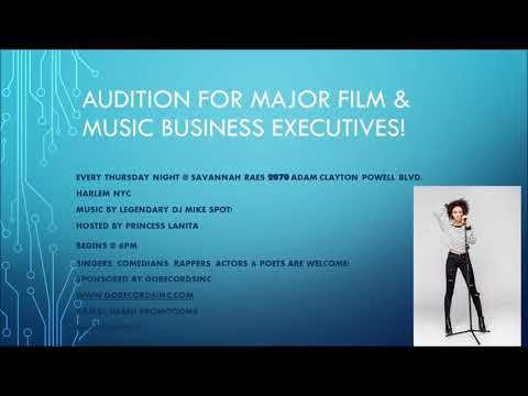 Singers, Rappers, Comedians, Actors AUDITION for Major Executives NYC 2018