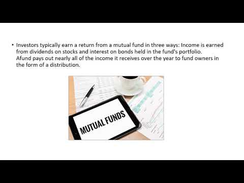 How do you make money from a mutual funds