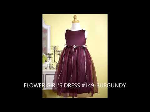 Girl's Flower Dresses in various sizes & colors