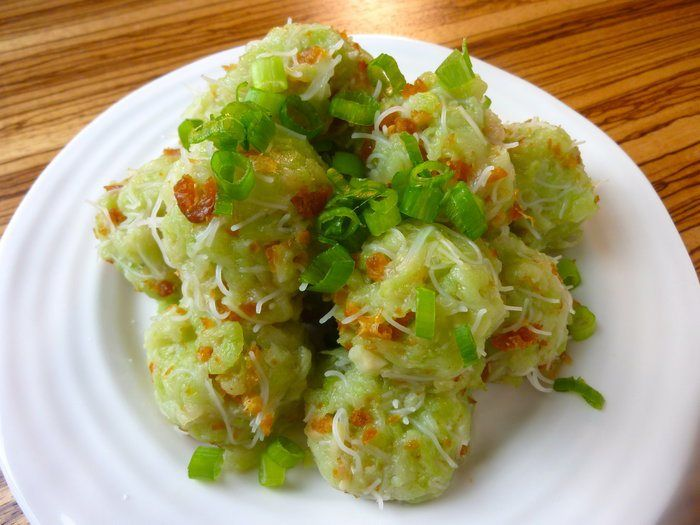 Chayote dumplings