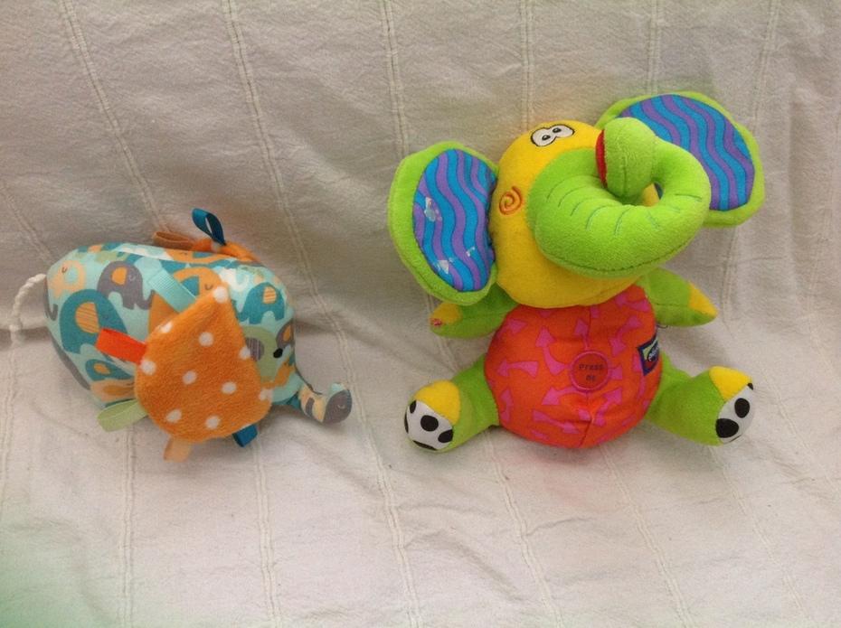 Two more Op shop elephants