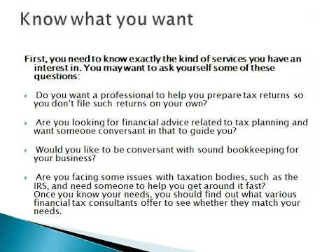 Financial Tax Consultant Company    Tax Relief R Us
