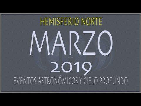 CIELO DE MARZO 2019. HEMISFERIO NORTE