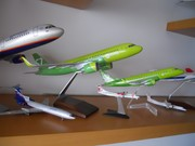 1:100 PacMin S7 A320neo & 1:100 China-made S7 Embraer 170