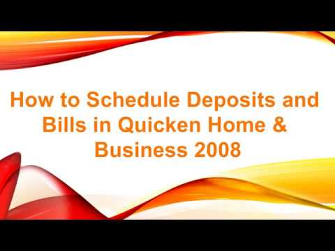 How to Schedule Recurring Invoices and Bills in Quicken