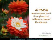 Thought For The Day ( AHIMSA )