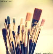 I'm creative by: Sarah D.