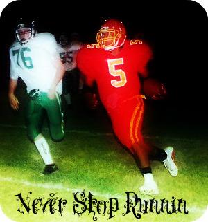 Never stop runnin by: De Marcus