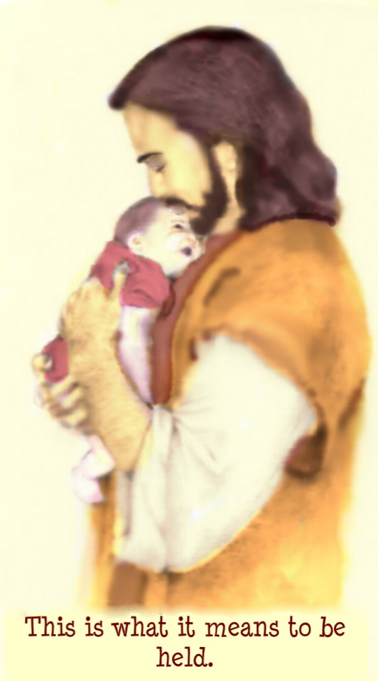 Jesus with infant