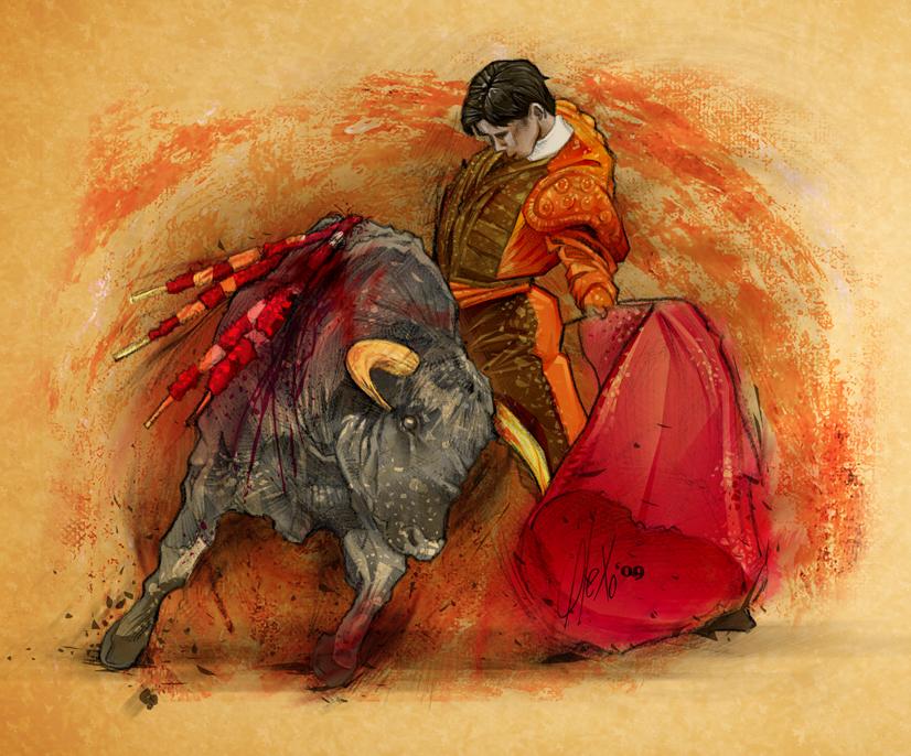 Torero ilustracion