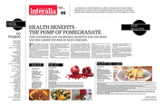 Health benefits - The pomp of pomegranate