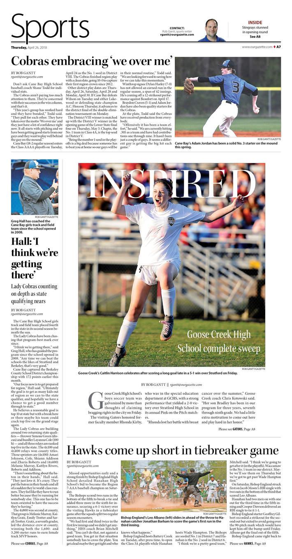 Goose Creek Gazette, Sports 04-26-18