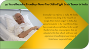 Brain tumor patient experience at spine and neuro surgery hospital India