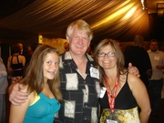 Brandi, Deb Munro and Bill Farmer, voice of Goofy