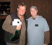 Pat Green and me when I was on the air at the Texas Twister!